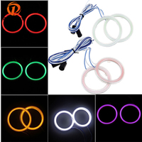 70mm Car Auto Angel Eyes Headlight COB Halo Ring LED Light Lamp White Yellow Blue Red