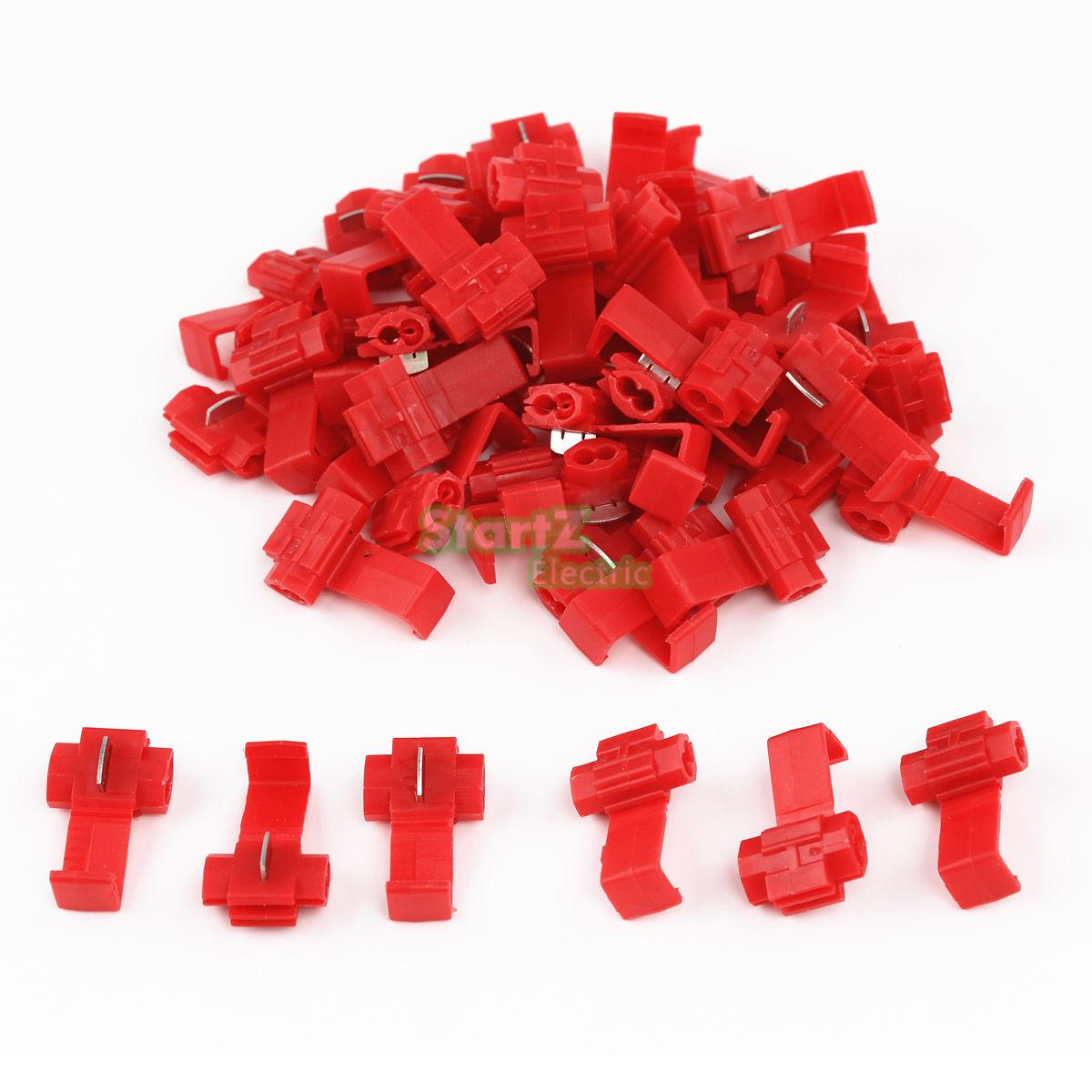 цены 50PCS Scotch Lock Wire Electrical Cable Connectors Quick Splice Terminals Crimp