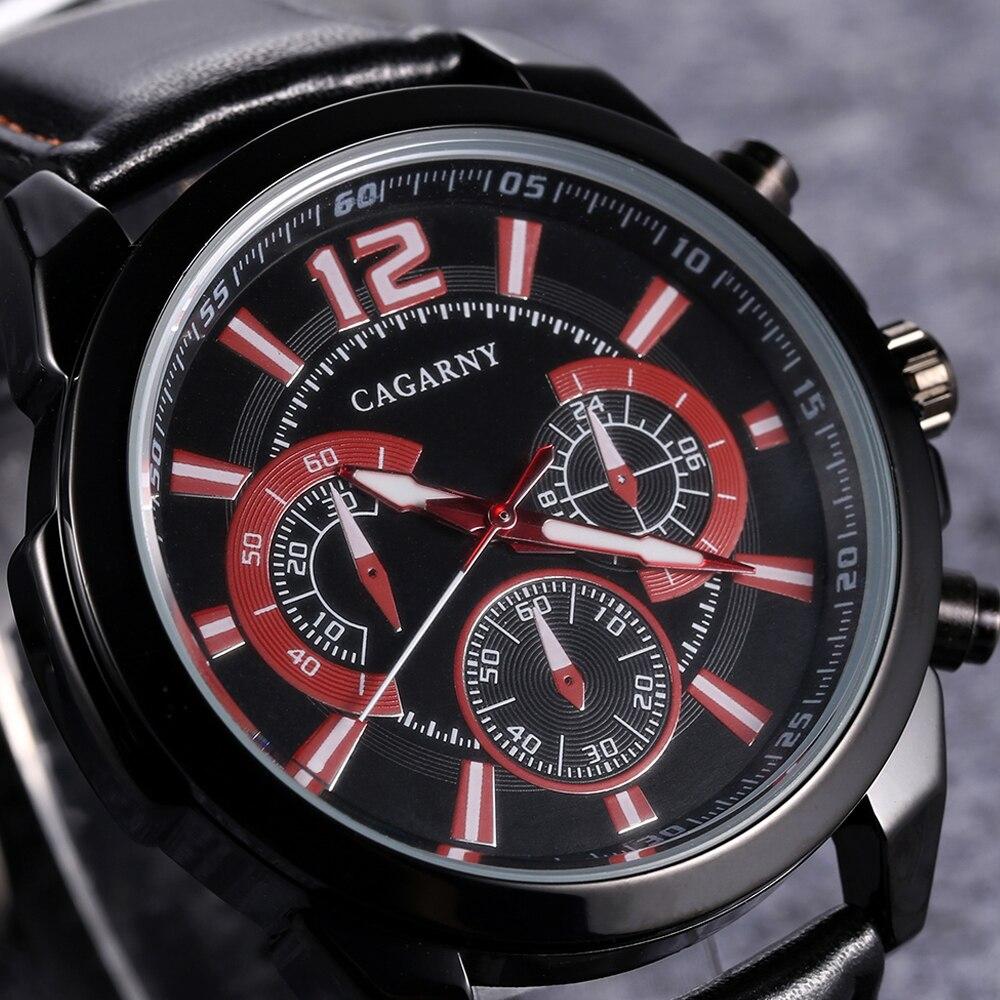 quartz wristwatches leather strap sports watches casual mens wrist watch black case 1 (6)