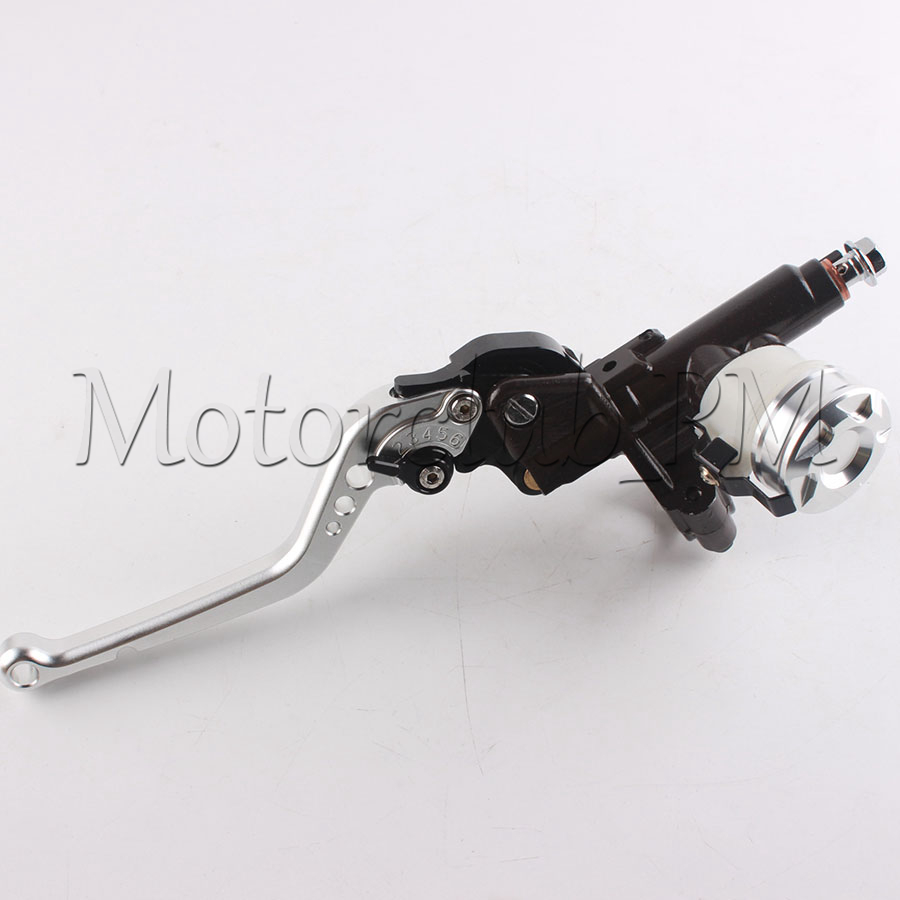 17mm Left Clutch Master Cylinder Reservoir Lever For HONDA CBR1000RR 2004-2007 2005 2006 Silver and Black aftermarket free shipping motorcycle parts brake clutch hand lever for honda cbr1000rr cbr 1000 2004 2005 2006 2007 carbon
