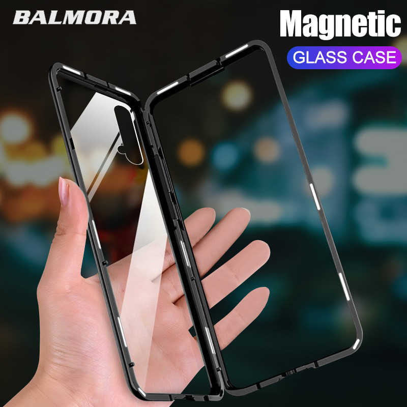 BALMORA Magnetic Adsorption Metal Case For Huawei P20 lite P30 Pro P10 9 Magnet Case For Honor 8X V20 10 9 For nova 4e Back case