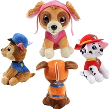 6pcs/Set Paw Patrol Dog Stuffed Plush Toy Doll Plush Filling 22CM Soft Lovely Everest Anime Action Figure Toys For Children Gift