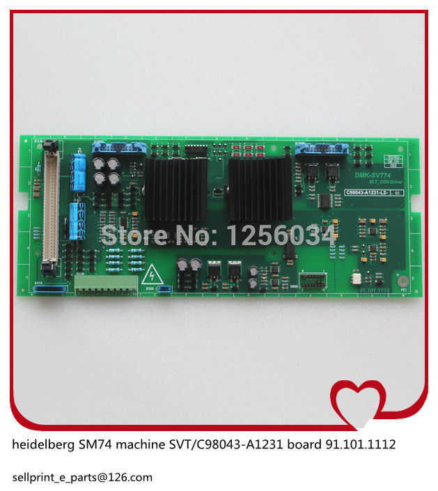 1 piece heidelberg MO machines board power converter SVT 91.101.1112 C98043-A1231, motherboard 91.101.1112 басовый усилитель ampeg svt 7pro