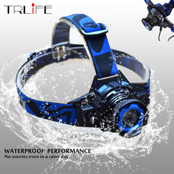 Waterproof LED headlamp 6000lums Rechargeable Headlight  Q5 Rotary zoom 3 Modes Head Lamp Built-in lithium Battery + Charger