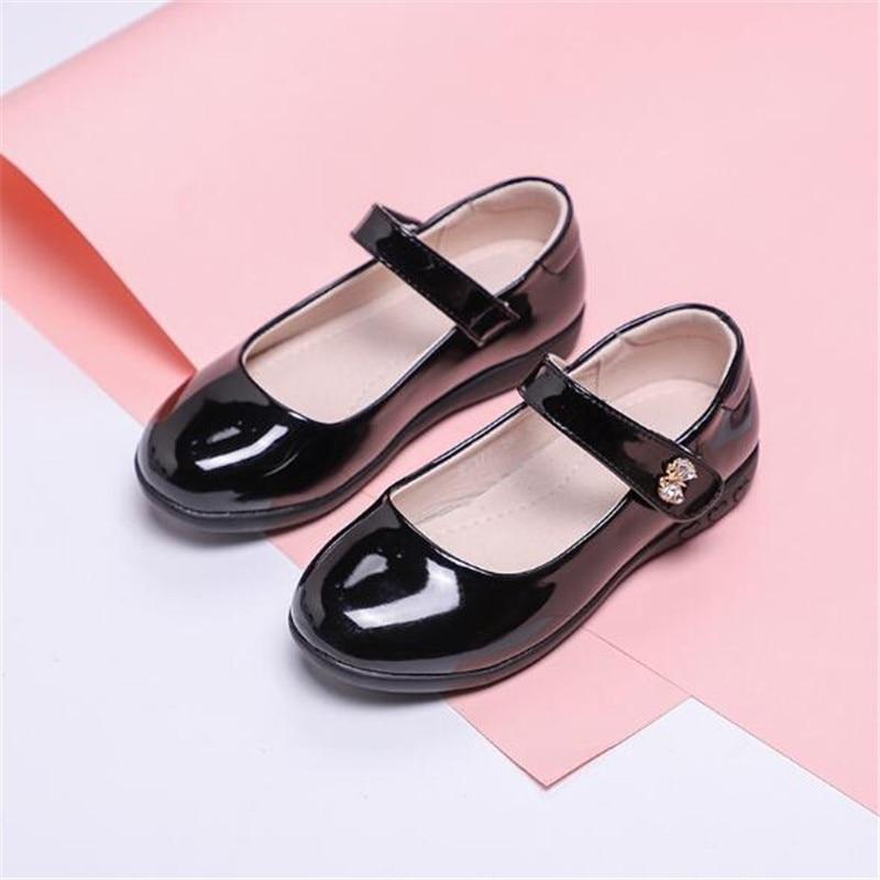 nova primavera outono criancas sapatos preto vestido 04