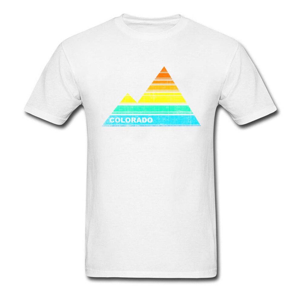Tops Shirts retro colorado souvenir April FOOL DAY Cotton Fabric Round Collar Men T Shirts Casual Tops T Shirt 2018 Discount retro colorado souvenir white