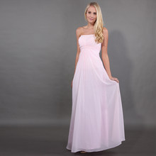 lamiabridal Simple Pink Wedding Party Bridesmaid Dresses Pleat Chiffon  Vestido De Novia Beaded Maid Of Honor Bridesmaid Gowns e9f2484706fd