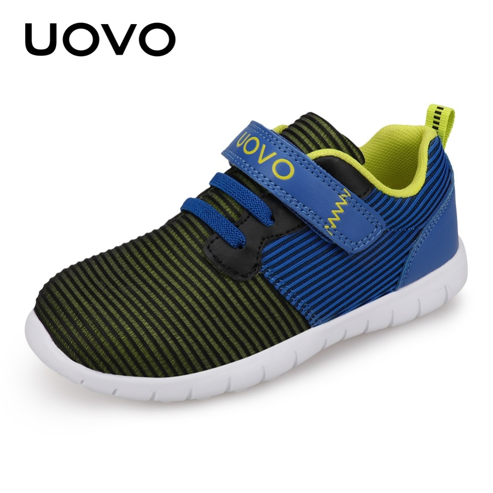 UOVO Newest Kids Shoes Breathable Spring Autumn Shoes for Boys Girls Light-weight Sole Children Shoes Flexible Shoes For Kids uovo 2016 outdoor nonslip boys shoes kids breathable baby children shoes girls shoes tenis infantil chaussure fille size 26 35