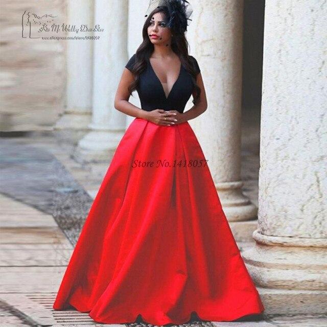 Robe de soiree pas cher rouge et noir