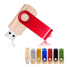 USB Flash Drive Rotate Wooden pendrive 4gb 8gb 16gb 32gb U Disk 2.0 memory stick wedding gifts Pen Drive usb memory stick Flash