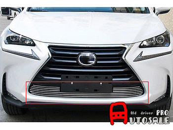 For LEXUS NX200T NX300H 2015 Shiny Stainless Front Bottom Grill Grid Grille Trim 1pcs