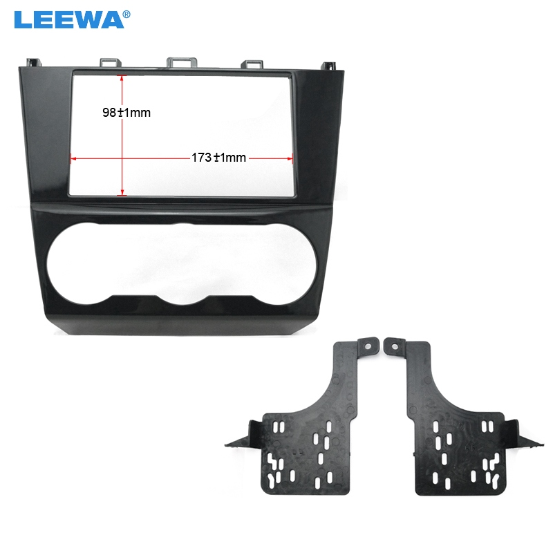 LEEWA Car 2DIN Refitting Radio Stereo DVD Frame Fascia Dash Panel Installation Kits Conversion For Subaru #CA3640 2 din car fascia panel audio panel frame dash frame kit for volkswagen crafter 2008 2009 2010 2011 2012 2013 free shipping