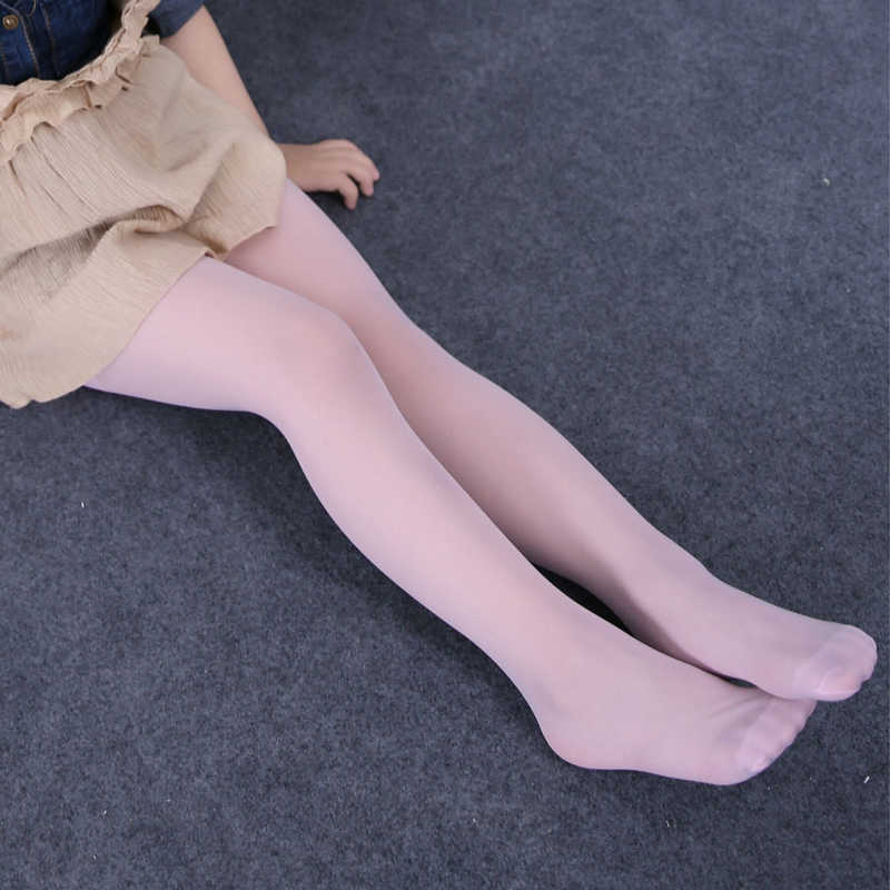 Kids Girls Soft Dance Lace Thin Sheer Pantyhose Tights Pants Sheer Tights