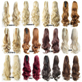 """HOT Selling Fashion  Women 22"""" Long Claw Curly Ponytail Hair Extensions  Synthetic Ponytails 20 Colors free shipping"""