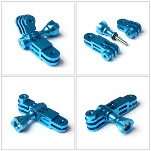 Image 5 - CNC Aluminium Drei Way Pivot Arm Mount Adapter für GOPRO Hero 8 7 6 1 2 3 + 4 5 sitzung/Yi /SJcam /EKEN /AEE /Sony Action Kamera