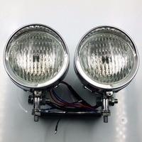 Chrome Bottom Mount Dual Metal Headlight For Harley Kawasaki Honda Suzuki Yamaha Bikes Touring Chopper Custom Cruisers