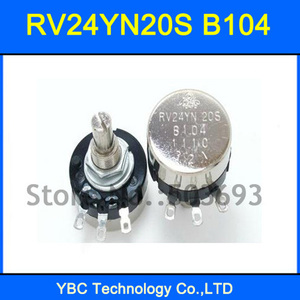 5pcs/lot RV24YN20S B104 100K RV24YN Potentiometer(China)