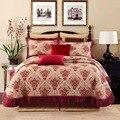 Grijs Roze Rood Heldere Barokke Jacquard Premium Sprei met Bijpassende Kussenhoezen King size Sprei Sprei Bed cover set
