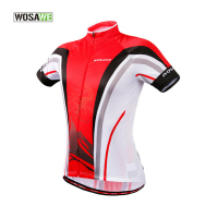 WOSAWE Cycling Jersey Polyester & Breathable Cycling Clothing Mtb Short Summer Quick Dry & Reflective Strip Men & Women Jersey