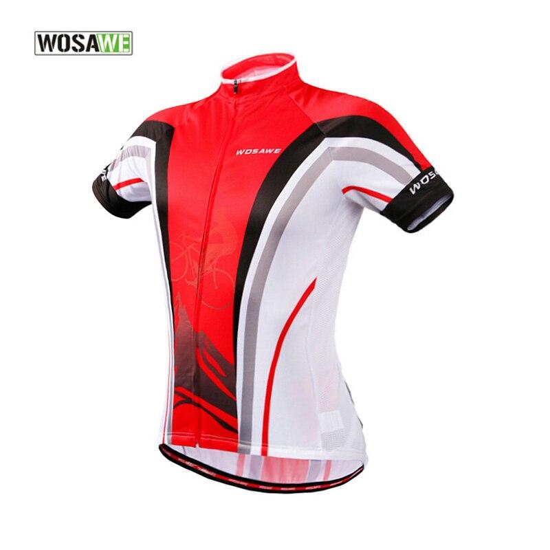 Wosawe Ciclismo Jersey poliéster y transpirable Ciclismo ropa MTB corto  verano secado rápido y banda reflectante hombres y mujeres Jersey e3c7dd92a2053