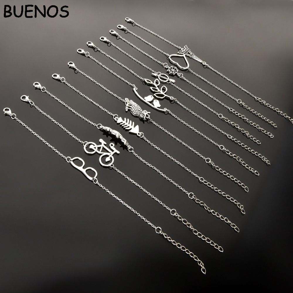 Simple-Style-Silver-Plated-Charm-Bracelet-Jewelry-Gift-Wedding-Banquet-Wholesale-Top-Quality
