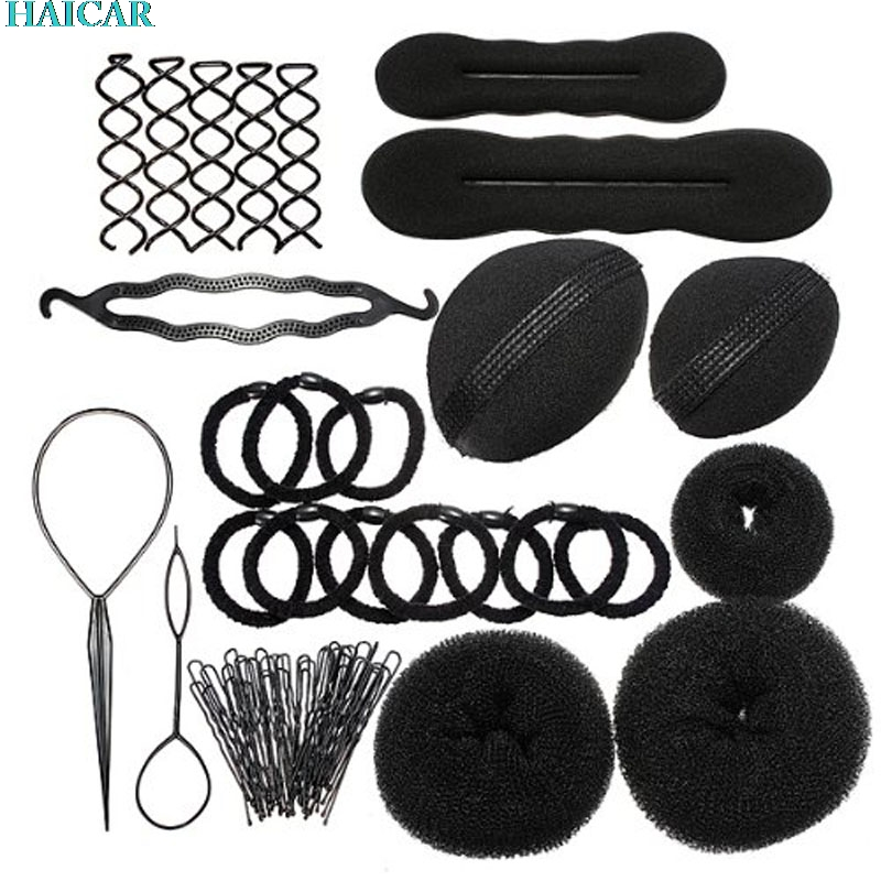 1 full set New Elastic Clamping Hairstyle Entrainment Tied Hair Weaving Hairstyle Braiders feb20dropship