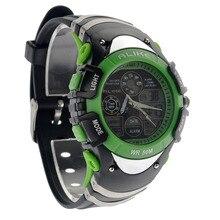 POR IGUAL A5114 50 M del Tiempo Dual Impermeable Unisex Del Deporte LED Digital de Cuarzo Reloj de pulsera reloj hombre reloj Al Aire Libre