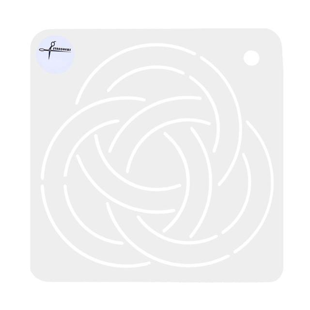 round circle pattern plastic acrylic template patchwork quilting stencil quilt tool painting drawing diy sewing craft