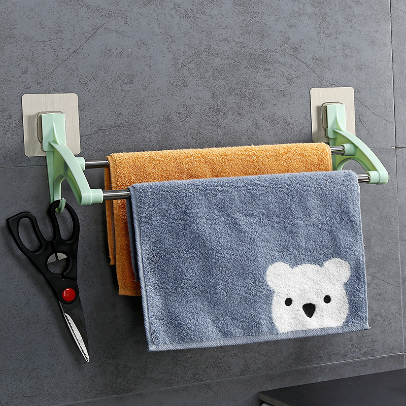 2 layer stainless steel bathroom towel rack with hook tableware wipes holders for kitchen wall shelf storage organization велосипедная корзина acacia mtb 5 5 bl bag acacia
