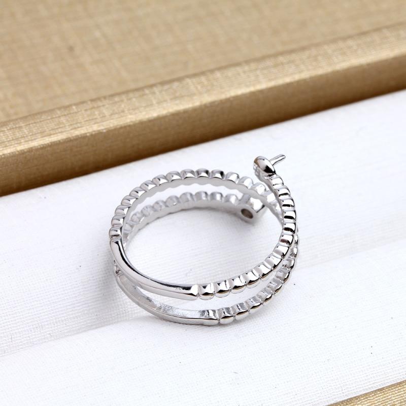 Mode 925 Sterling Silber Ringe Halter Frauen DIY Ringe Natürliche - Edlen Schmuck - Foto 3