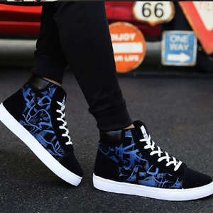 Image 2 - Cresfimix zapatos hombre male fashion new stylish black pattern high shoes men cool spring & autumn comfy lace up shoes a2098