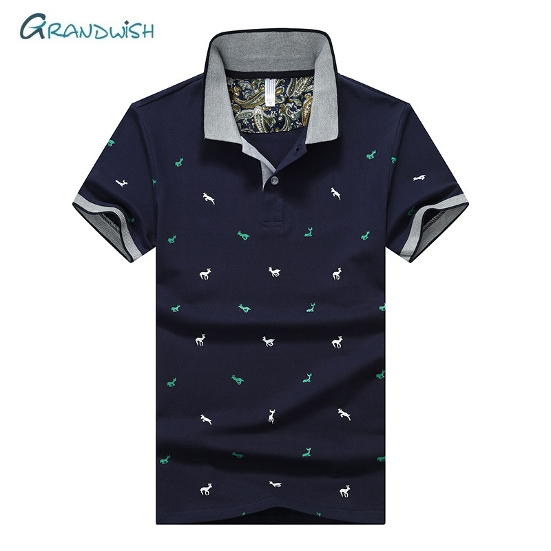 Grandwish Man   Polo   Shirt Short Sleeve Men's High Quality   Polo   Shirt Casual Slim Fit   Polo   Shirts Brands 95% Cotton Male Top,GA208