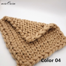 45*45cm Knitted Blanket Newborn Baby Photo Prop Chunky Photography Basket Filler Stuffer Backdrops