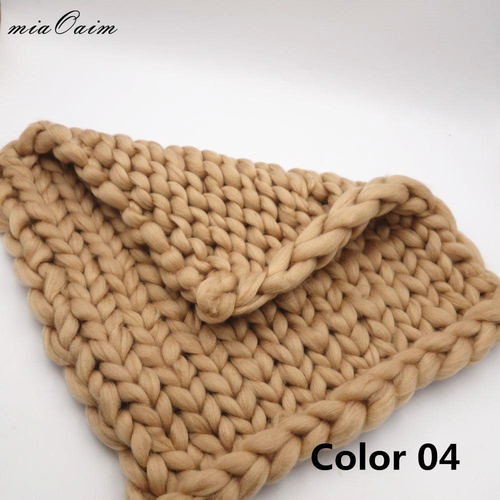 45 45cm cobertor de malha bebe recem nascido foto prop chunky cobertor do bebe fotografia prop