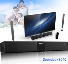 Smalody Portable Soundbar Bluetooth Bass Wireless Speaker 4400Mah 20W Subwoofer With Remote Control LCD Display Home Theater TV