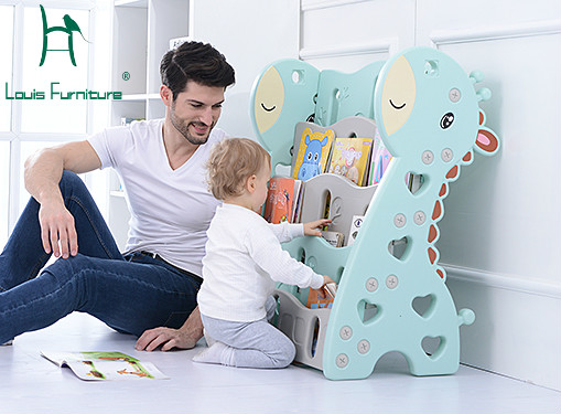 Louis Fashion Children's Bookcases Bookshelf Baby Toy Collection Of The Kindergarten Simple Plastic Cartoon Picture
