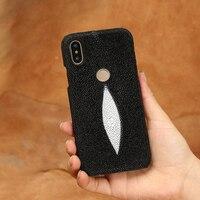 Genuine Stingray Leather Case For Xiaomi Pocophone F1 Mi 9 SE Mi 8 8Lite Back cover For Redmi Note 7 Pro K20 pro A2 Lite case