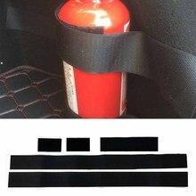 Adesivo extintor de incêndio de carro 5 pçs/set, adesivo de nylon tira cinto bandagem do carro mala de armazenamento de fita mágica gancho e laço adesivos da alça