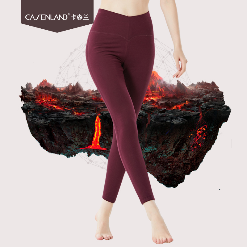 Women's Wool Pants Five-layer Thick Trousers High Waist Middle-aged Large Size Wool Pants Autumn And Winter Warm Pants