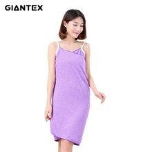 61e858196a GIANTEX Microfiber Women Bath Towel Wearable Beach Towel Soft Beach Wrap  Skirt Super Absorbent Bath Gown