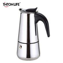 Плитой percolator латте мока эспрессо кофеварка чашка горшок нержавеющей стали из