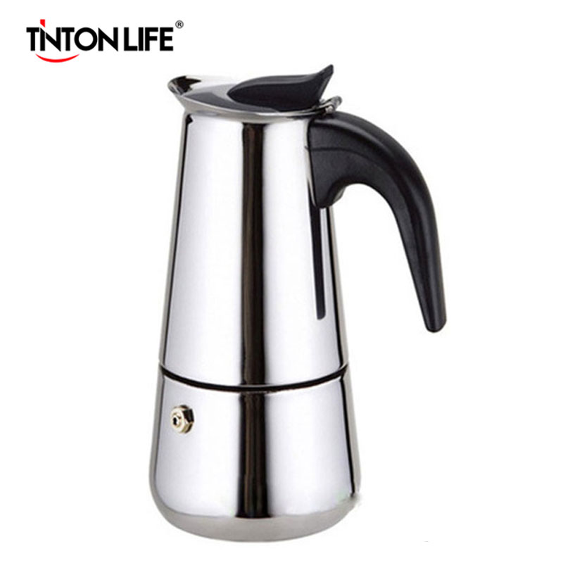 2 Cup Stainless Steel Moka Espresso Latte Percolator Stove Top Coffee Maker Pot kopen