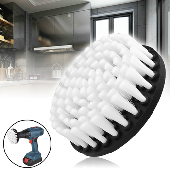 """1pc 5"""" White Plasstic Soft  Drill Brush Attachment For Cleaning Carpet Leather And Upholstery Sofa Wooden Furniture"""