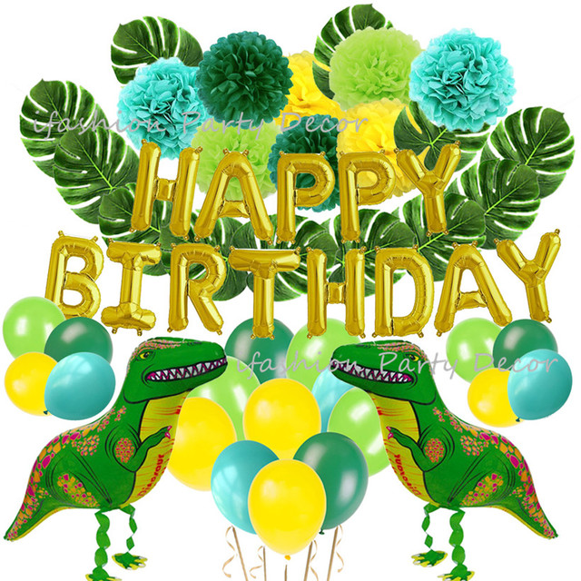 Dinosaur Party Supplie Hawaiian Luau Safari Favors Baby Shower Dino Jungle Jurassic Boys Birthday Decorations