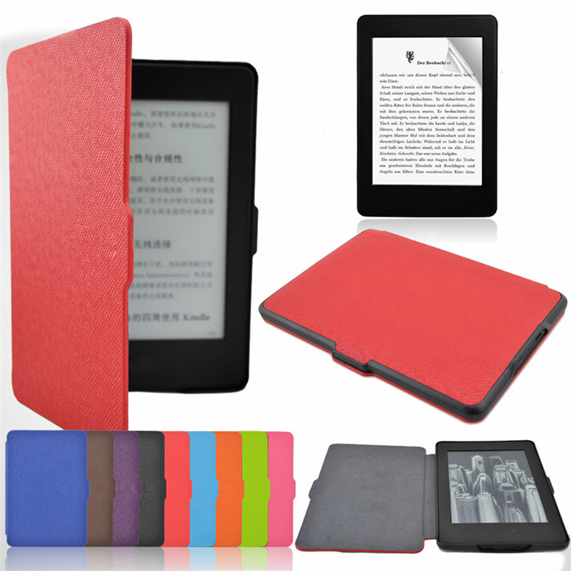 NEW Mecall Smart Ultra Slim Magnetic Case Cover For Kindle Paperwhite+Screen film Drop Shipping #0217