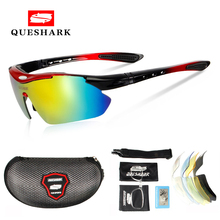 Queshark Polarized Cycling Sunglasses Bike Racing Bicycle Goggles Cycl