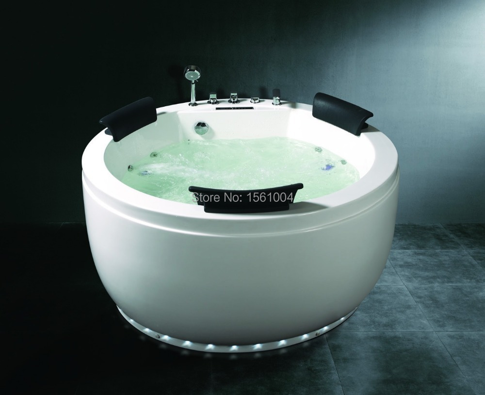 Round Freestanding Air Bubble Massage Bath Tub Acrylic Bathtub for ...