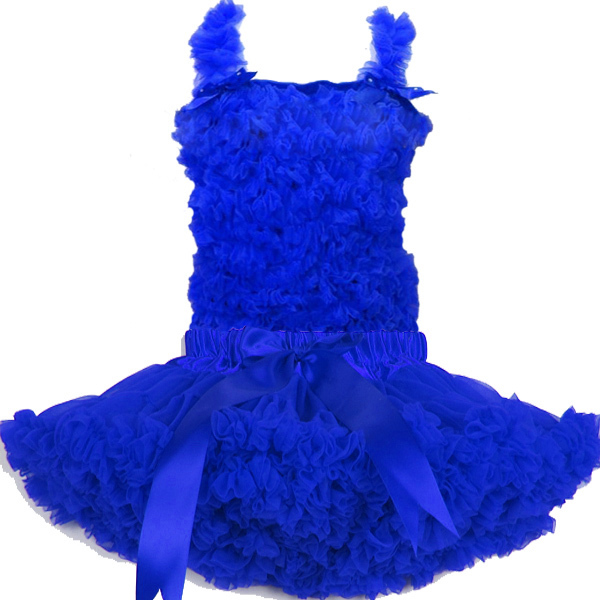 1 Шт Royal Blue pettiskirt набор, девушки Шифон Юбки Набор Бесплатная доставка ПС-РБ