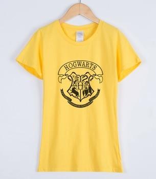 HOGWARTS Print 2018 Women T-shirts Fashion Casual Short Sleeve Tee Shirt For Lady Slim Various Colours Available Female T-shirt 5