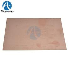 1 pieza Placa de pruebas de 10x15cm placa laminada revestida de cobre PCB de un solo lado prototipo Universal FR4 44,7G KIT de bricolaje transparente de 1,2 MM